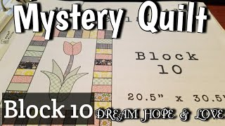 Block 10 of Mystery Quilt - DREAM HOPE & LOVE - Glue basting lots of pieces and chain piecing