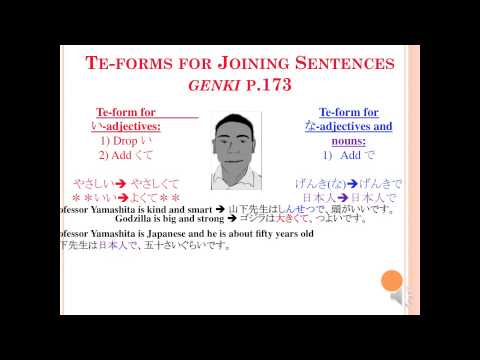 Joining Sentences with ~て form (Genki Chapter 7 Lesson 3) - YouTube