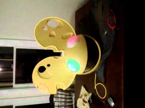 Deadmau5 Cheese Head with sound activated lights