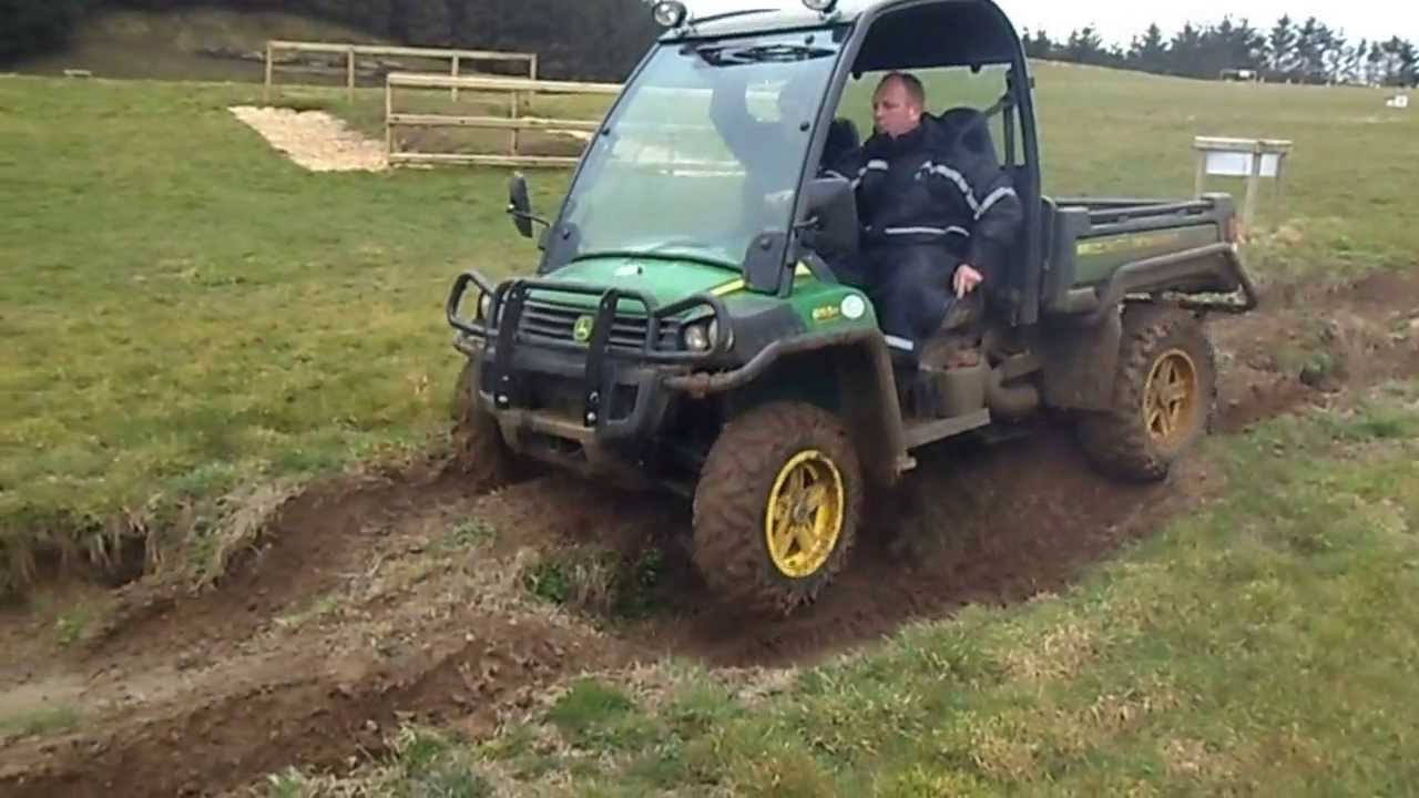 testing john deere gator 855d suspension - youtube