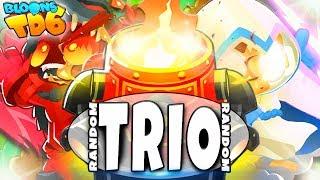 Inferno Ring + Druid Team | Random Trio | Bloons TD6 PL