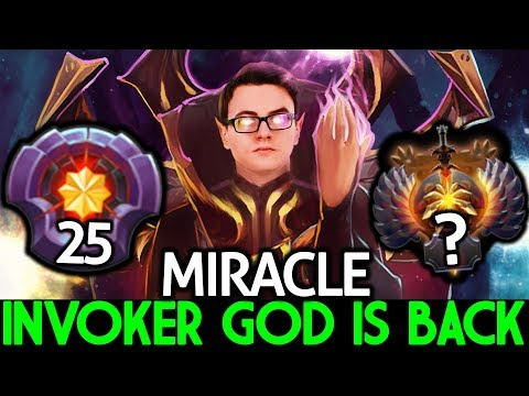 MIRACLE [Invoker] When The God Is Back Destroy Pub Game 7.24 Dota 2