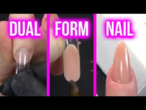 OMG!! EASIEST ACRYLIC NAIL EVER!!! - How to Use Dual Forms to Create an Acrylic Nail