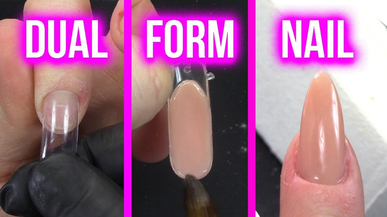 OMG!! EASIEST ACRYLIC NAIL EVER!!! - How to Use Dual Forms to Create ...