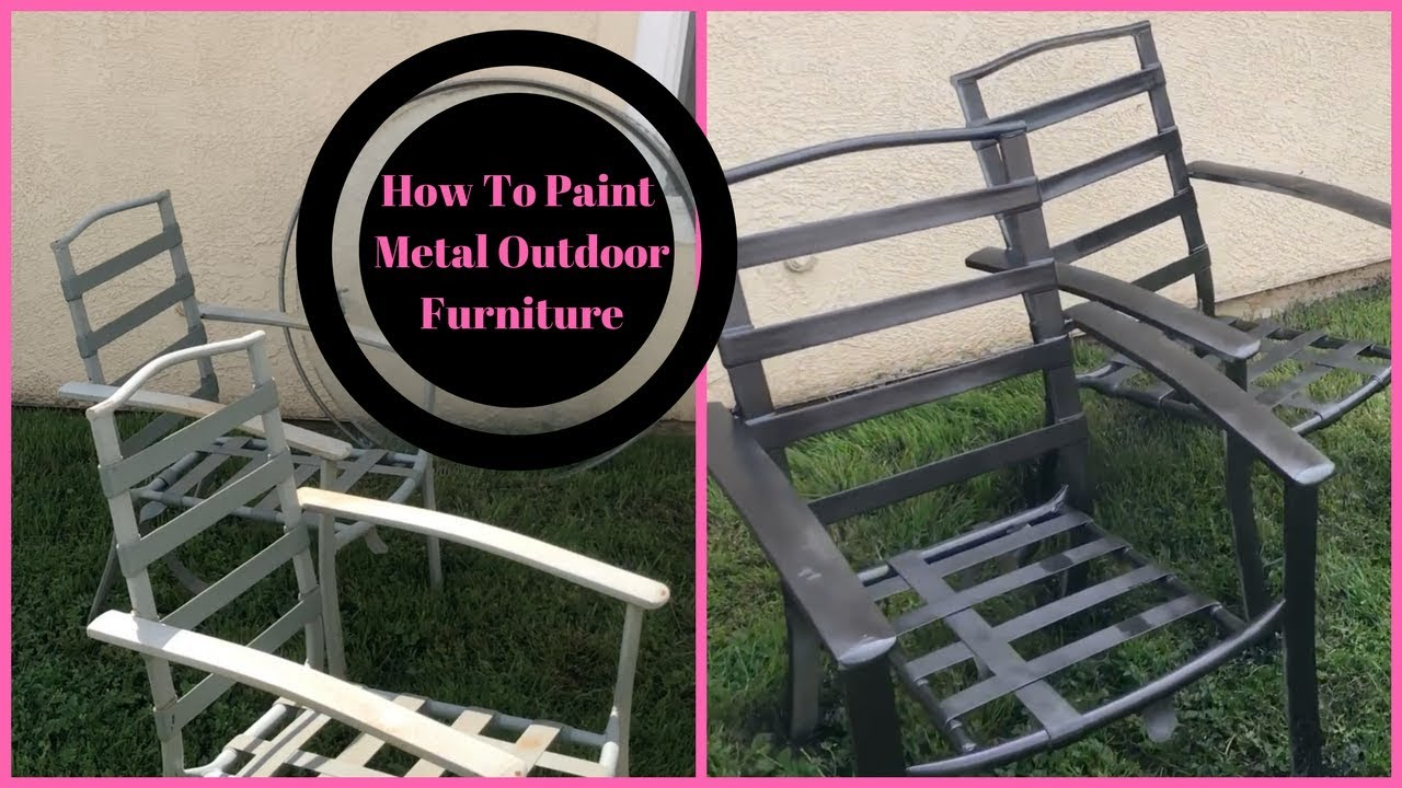 How To Paint Metal Outdoor Furniture   YouTube