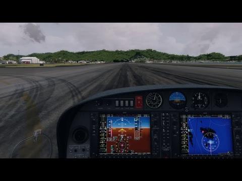 TKPK - TNCM | N774DL | DA42 Arrival & Landing