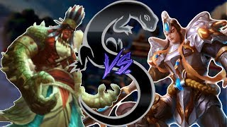 Smite - Amazon He Bo Skin is hilarious! - Masters Ranked 1v1 Duel