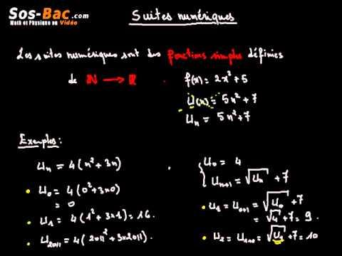 suites numriques cours 1 - Resume Cours Science Bac Math