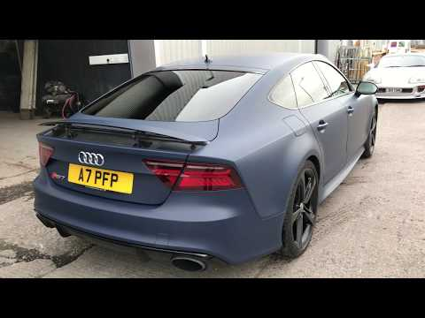 Vehicle Wrapping In Manchester - Audi RS7 Full Car Wrap