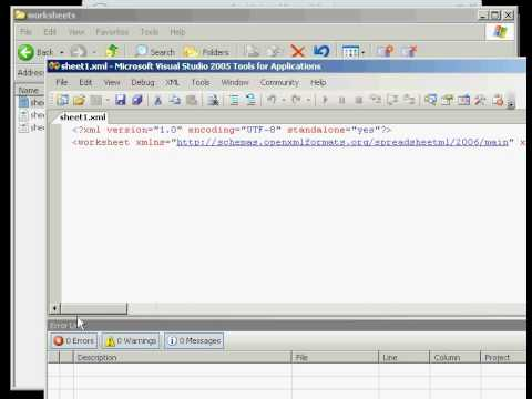 Microsoft Excel Open Office Xml Ooxml Implementation Youtube
