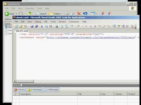 Microsoft Excel Open Office Xml Ooxml Implementation Youtube