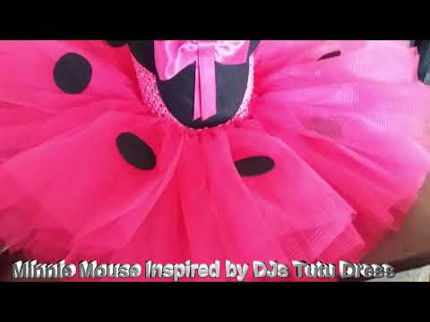Fuschia Pink Minnie Mouse Inspired By DJs Tutu Dress