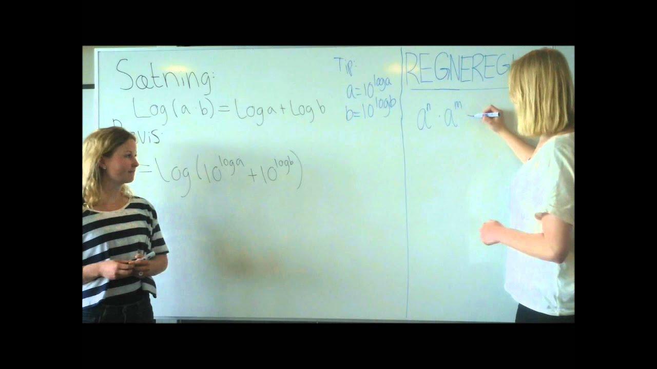 Video Matematik Logaritmen (log) til et produkt
