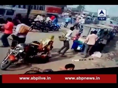 CCTV: Truck rams into bus in Dausa, Rajasthan