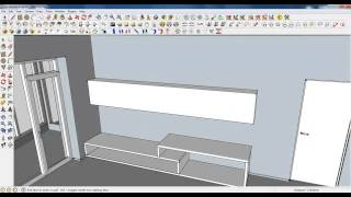 Google Sketchup Tutorial Part 04: Living Room Modeling (unit And Table)