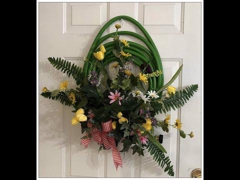 Tricia's Creations: Floral Wall Decor: Garden Hose Wreath