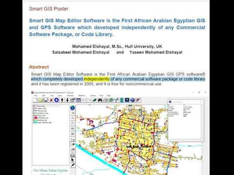 Smart GIS Software, First African Arabian Egyptian GIS GPS Software