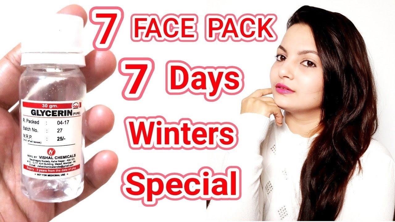 10 Glycerine Face Pack For 10 DaysWinter SkinCare HacksWinter SkinCare  RoutineAlwaysPrettyUseful