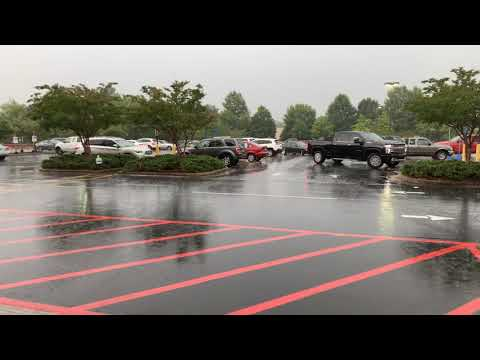 Leaving Lowe's Fayetteville Georgia During A Severe Thunderstorm With Pouring Rain - Vlog