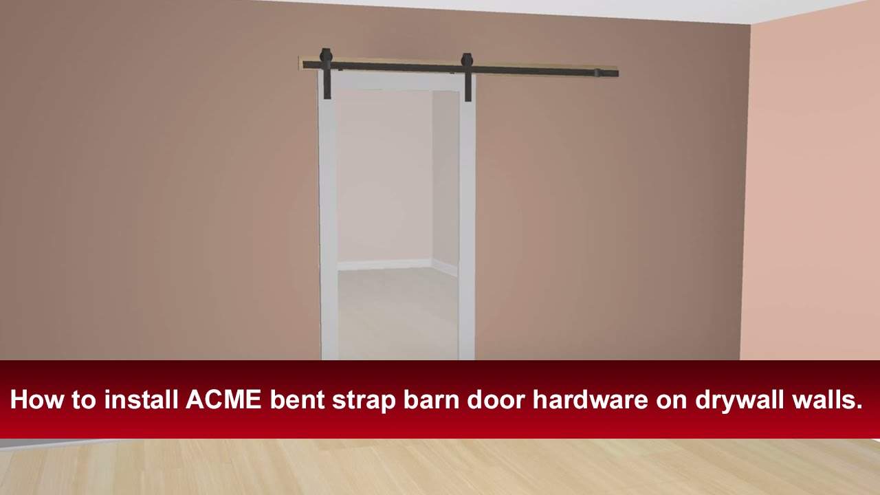 How To Install Renin's Bent Strap Barn Door Hardware into ...