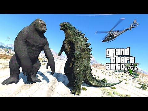 GTA 5 Mods - ULTIMATE KING KONG VS GODZILLA MOD!! GTA 5 Mods Gameplay