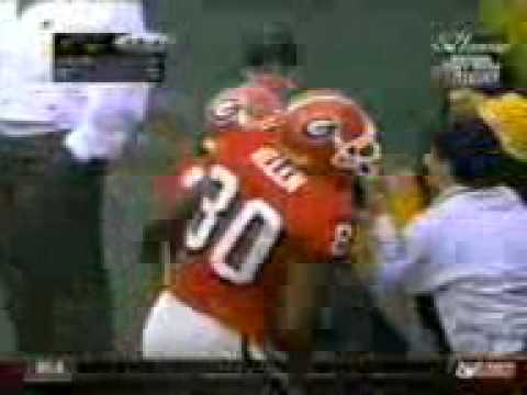 Hines Ward (Uga) TD catch vs Ga Tech