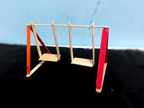 Cara Mudah Membuat Miniatur Ayunan Taman Dari Stik Es Krim