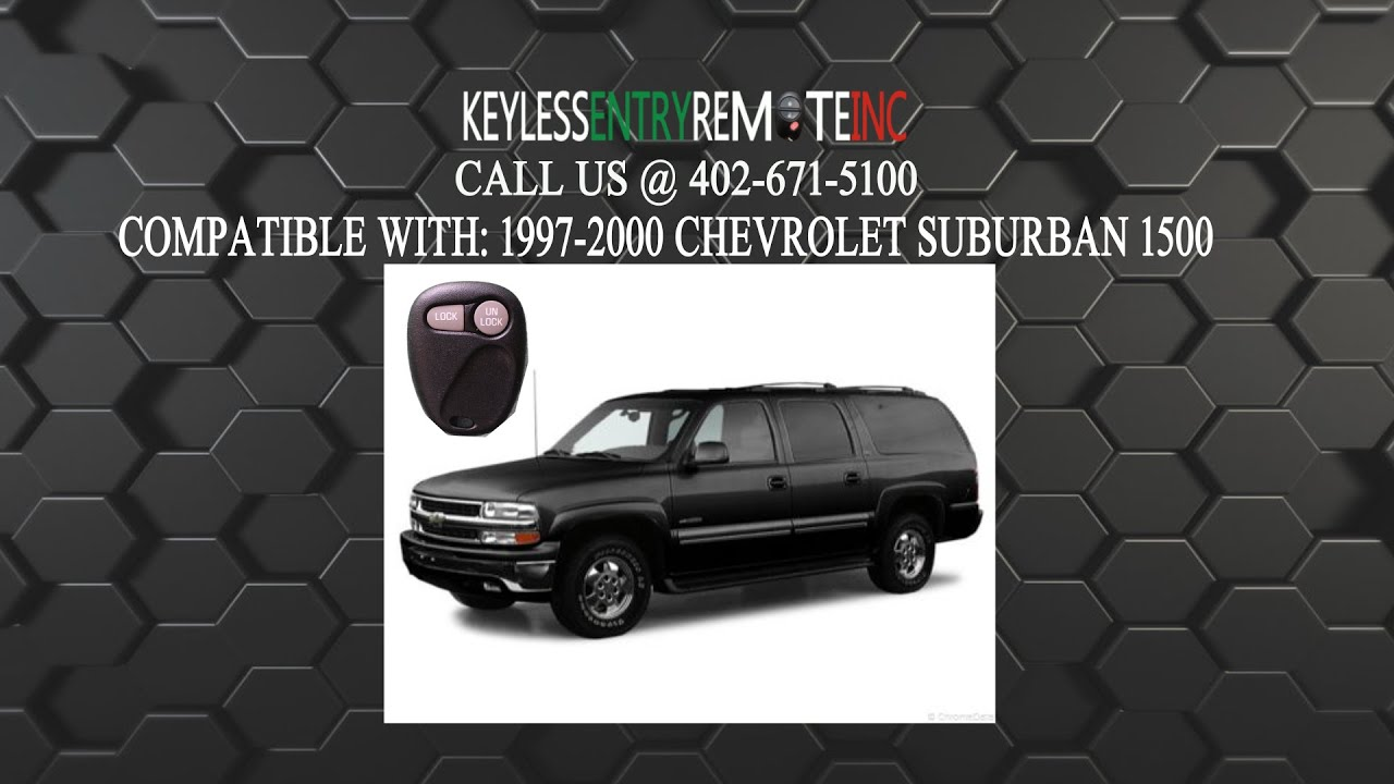 How To Replace Chevrolet Suburban 1500 Key Fob Battery 1997 1998 1999 2000