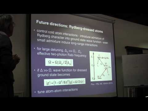 """Barry Dunning, """" Experiments with strontium Rydberg atoms"""""""