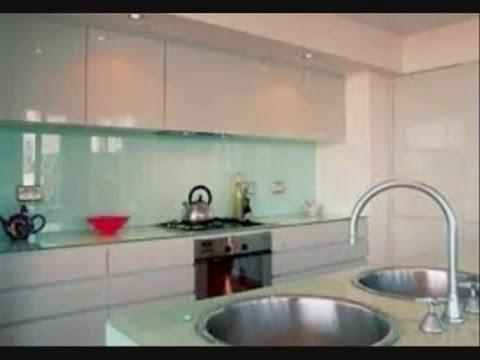 Backpainted Glass backsplash for kitchen New york - YouTube