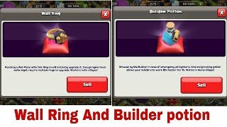 Clash of Clans - Use Of New Update, Wall Ring, New magical book Items And Builder potion