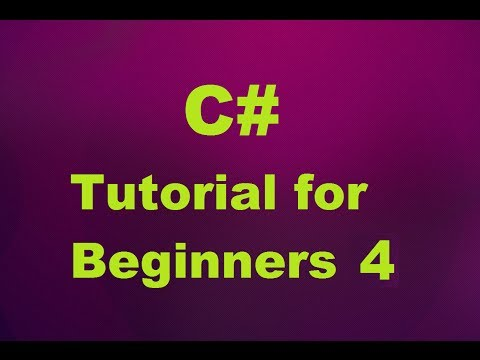 C# Tutorial for Beginners 4 - Arithmetic Operators and Simple Calculator