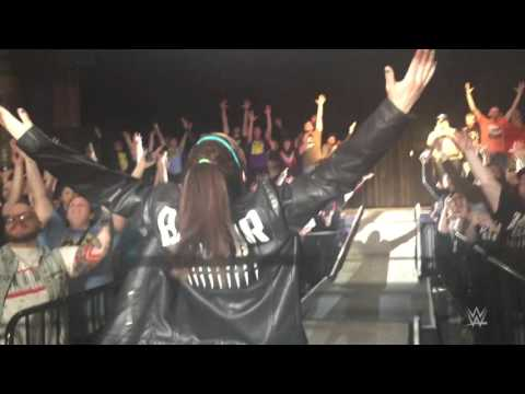 Bayley cheers Finn Bálor up after his injury at NXT Live
