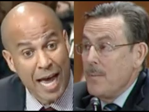 """YOU'RE A CORPORATE LACKEY!!!"" Cory Booker BRILLIANTLY Destroys Trump EPA Nominee"
