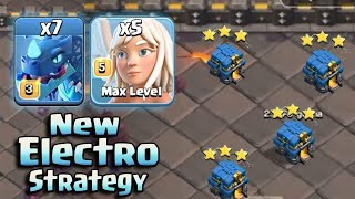 New Electro Dragon With Queen Walk Attack Strategy 2018! New Electro Fire 3star TownHall 12 Bases