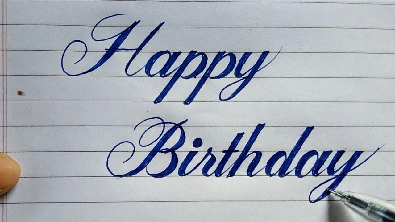 How to write Happy BirthDay in calligraphy fontscalligraphy