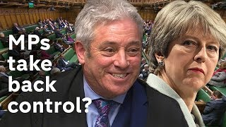 Has Parliament taken back control of Brexit after PM loses rebel amendment?