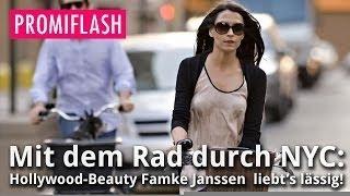 Mit Rad durch NYC: Hollywood-Beauty Famke Janssen liebt's lässig!(Hollywood-Star Famke Janssen: So bodenständig ist die gebürtige Niederländerin. (lba/fme), 2014-12-14T03:13:27.000Z)
