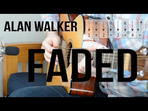 Faded Guitar Tutorial - Alan Walker | Simple Chords & Strumming PLUS Intro Melody!