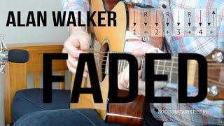 Download Faded Guitar Tutorial - Alan Walker | Simple Chords & Strumming PLUS Intro Melody! Mp3