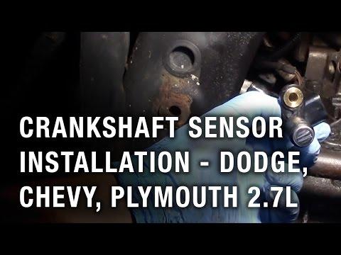 Crankshaft Sensor Installation - Dodge, Chrysler, Plymouth 2.7L