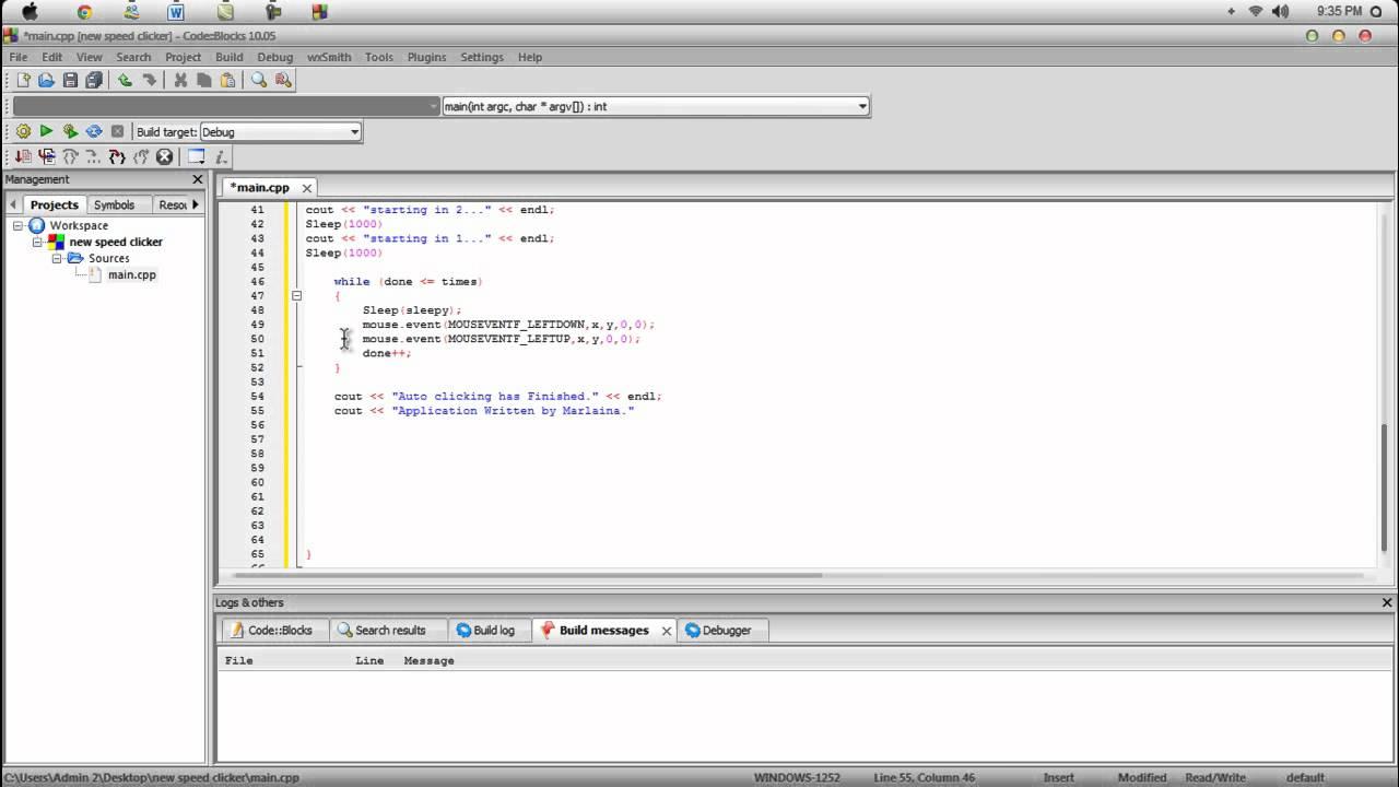 Auto clicker C++ Programming