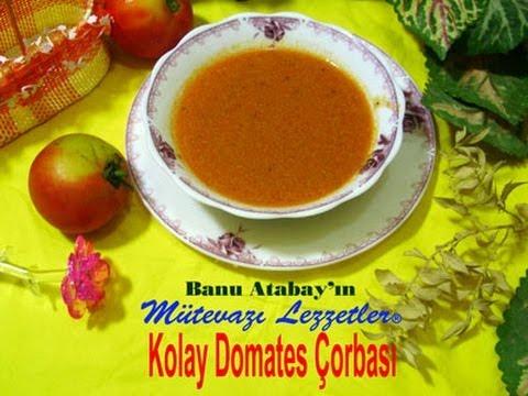 Kolay Domates Çorbası (Çorba Tarifleri)