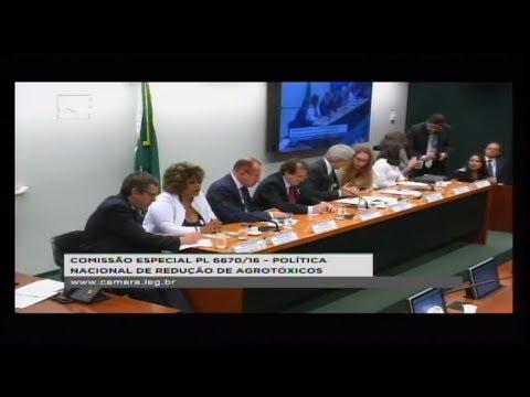 PL 6670/16 - POLÍTICA NACIONAL REDUÇÃO AGROTÓXICOS - Reunião Deliberativa - 12/06/2018 - 15:09