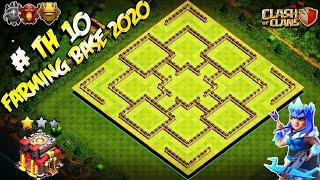 NEW BEST! Farming Base Town Hall 10 (TH 10) 2020 - BEST Hybrid Base TH 10