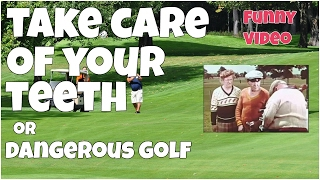 Take care of your teeth or dangerous golf ★ Epic FUNNY 😂