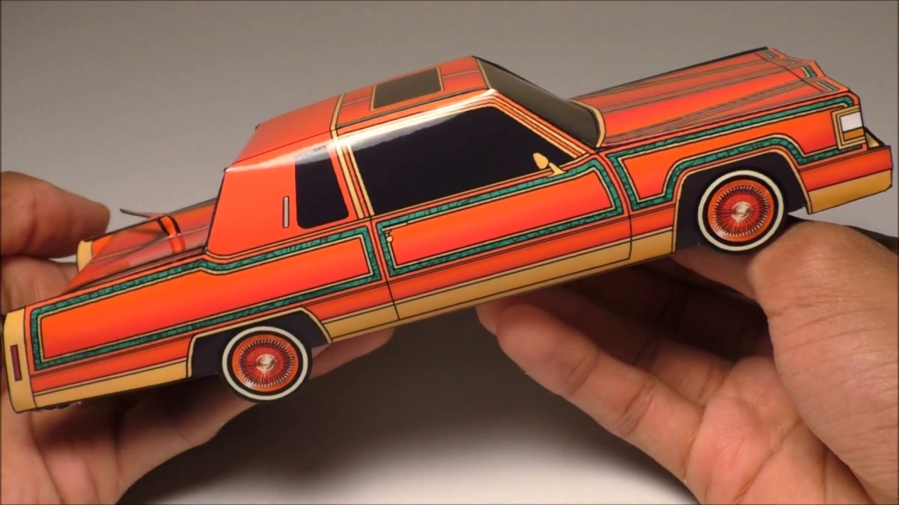 Jcarwil Papercraft 1984 Cadillac Fleetwood Coupe Lowrider