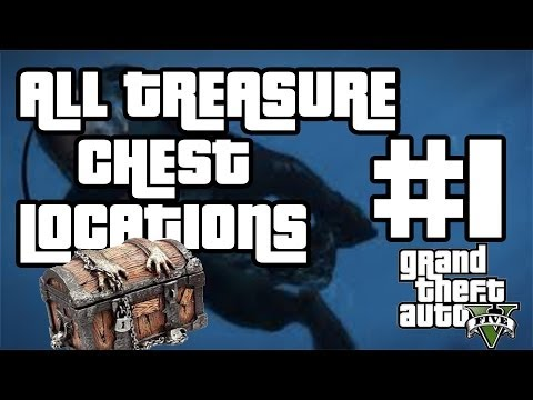 GTA V SECRETS All Treasure Chest Locations Part 1 Chests 1,4,5,11 +Scuba Gear