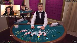 BLACKJACK BIG BETS 4500$ BALANCE!