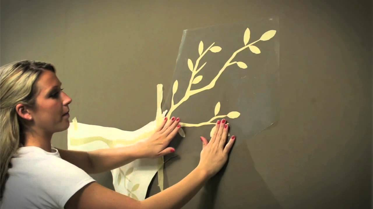 Wall Decal Tips Installing Large Wall Decals YouTube - How to put up a large wall decal